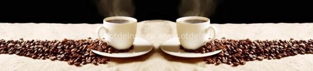 11015 Кофе. Фартук для кухни из пластика. 3 м.