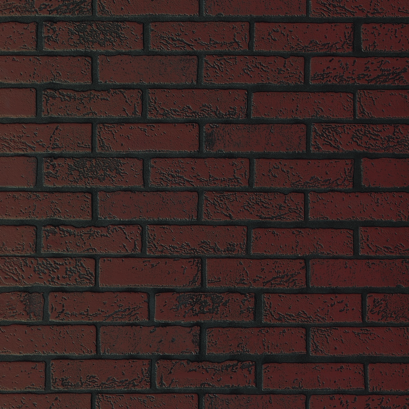 "Листовая панель МДФ ""Кирпич Темно-красный"" 930х2200х6 мм"