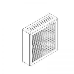 Дамаско белый. Экран с коробом для радиаторов 600х600×170 мм.