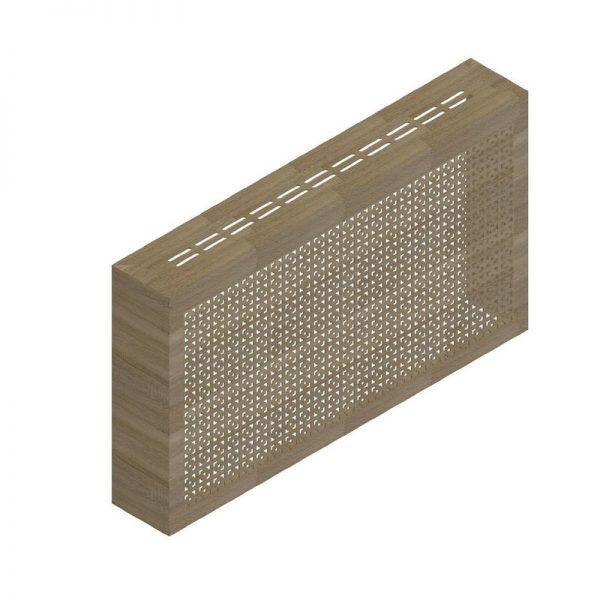 Дамаско сонома. Экран с коробом для радиаторов 1200х600×170 мм.