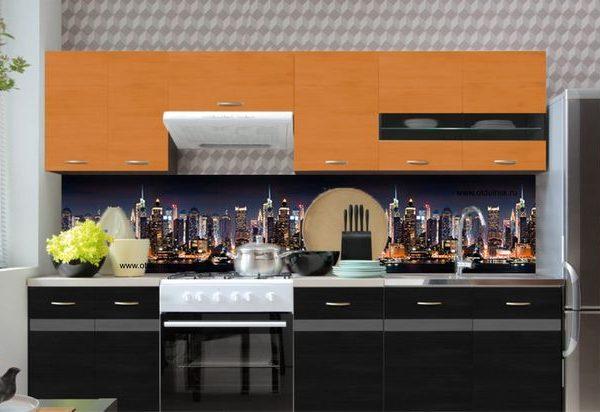 Манхэттен. Фартук для кухни пластиковый. 2 метра