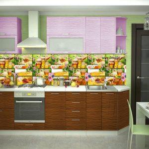 Мед. Фартук для кухни пластиковый. 2 метра