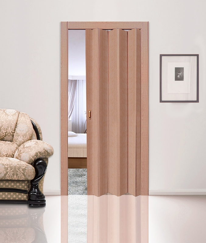 Ольха. Дверь гармошка ПВХ