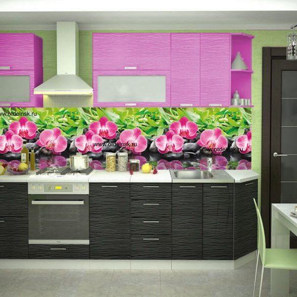 Орхидеи. Фартук для кухни пластиковый. 2 метра