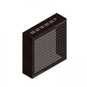 Сусанна венге. Экран с коробом для радиаторов 600х600×170 мм.