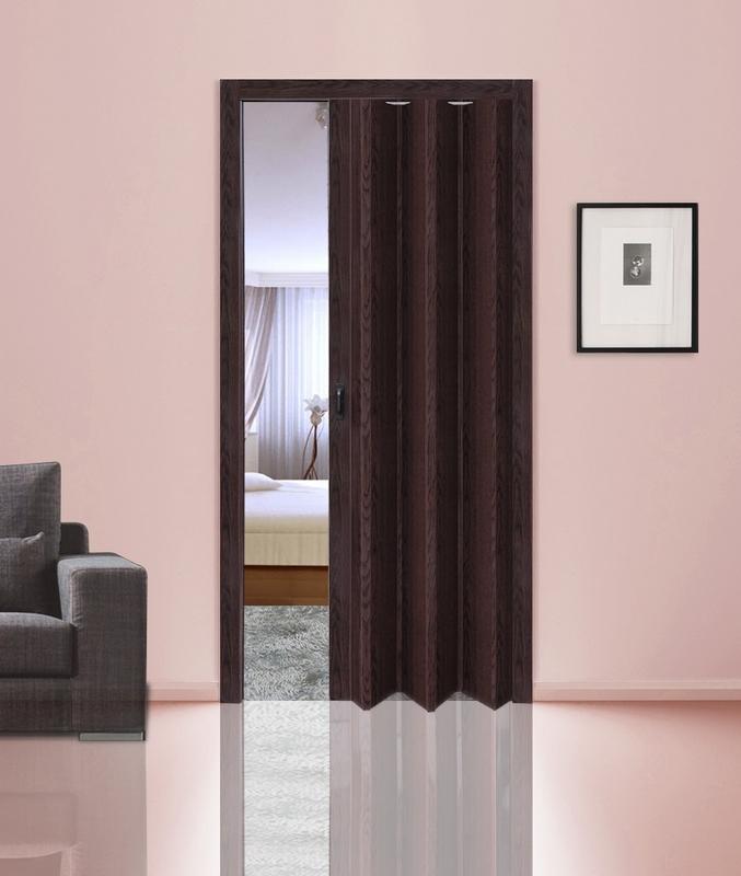 Венге. Дверь гармошка ПВХ