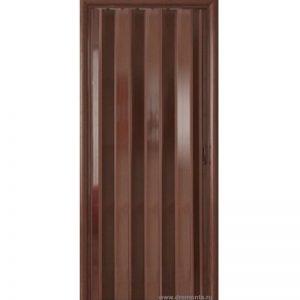 Венге. Дверь гармошка ПВХ с мягкими шарнирами
