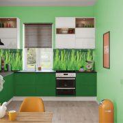 Зеленый луг. Фартук для кухни пластиковый. 2 метра