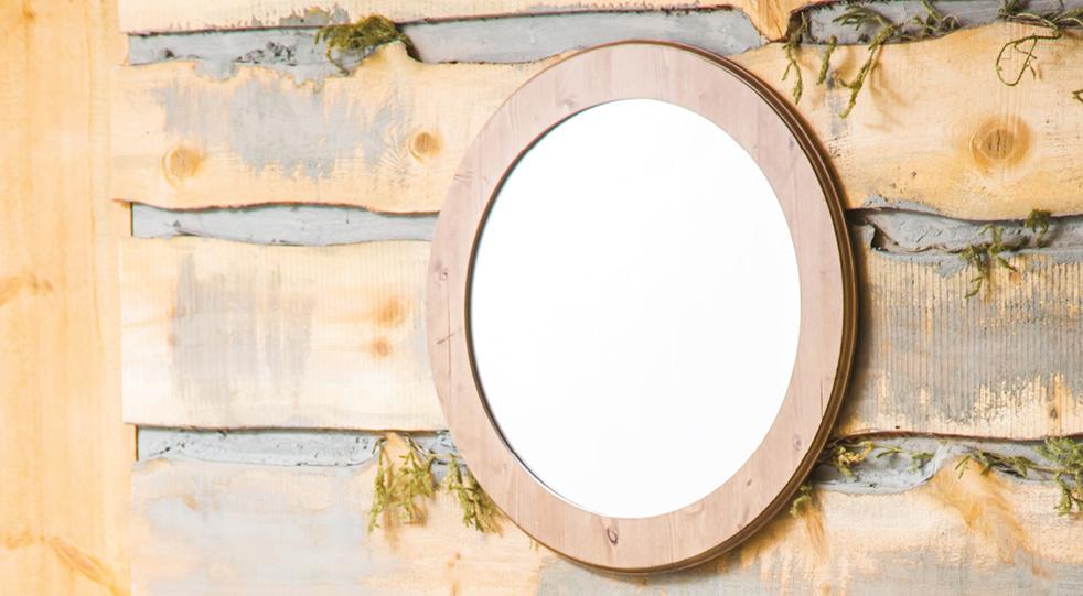 """Зеркало для ванной """"Сосна"""""""