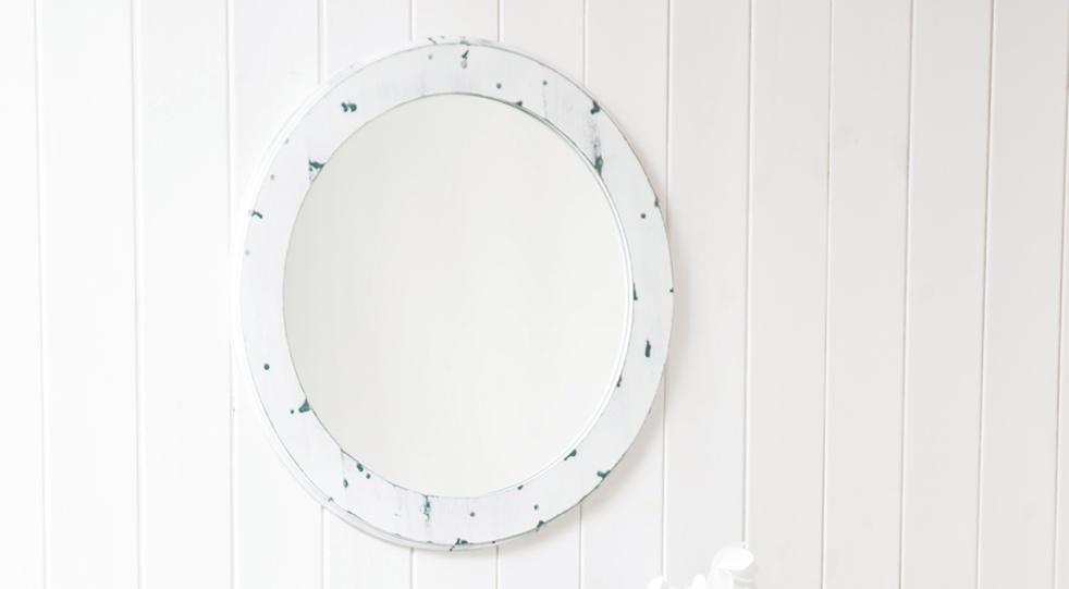 Белое зеркало из сосны