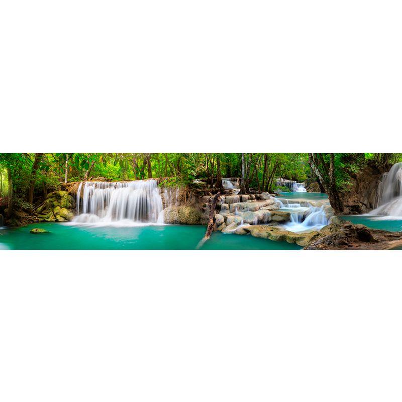 1091 КП Тропический водопад. Фартук для кухни пластиковый. 3 метра