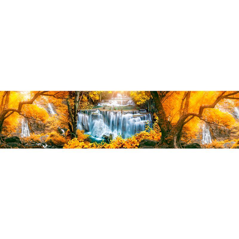 15 КП Осенний водопад. Фартук для кухни пластиковый. 3 метра