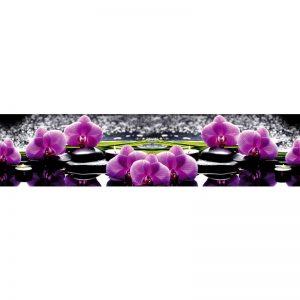 160 КП Орхидеи. Фартук для кухни пластиковый. 3 метра