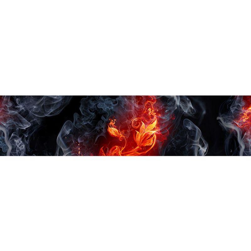 2341 КП Узоры из огня. Фартук для кухни пластиковый. 3 метра