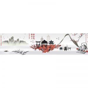 437 КП Китай. Фартук для кухни пластиковый. 3 метра