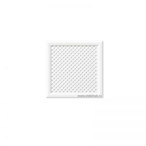 Готико Белый 600х600 экран для радиатора
