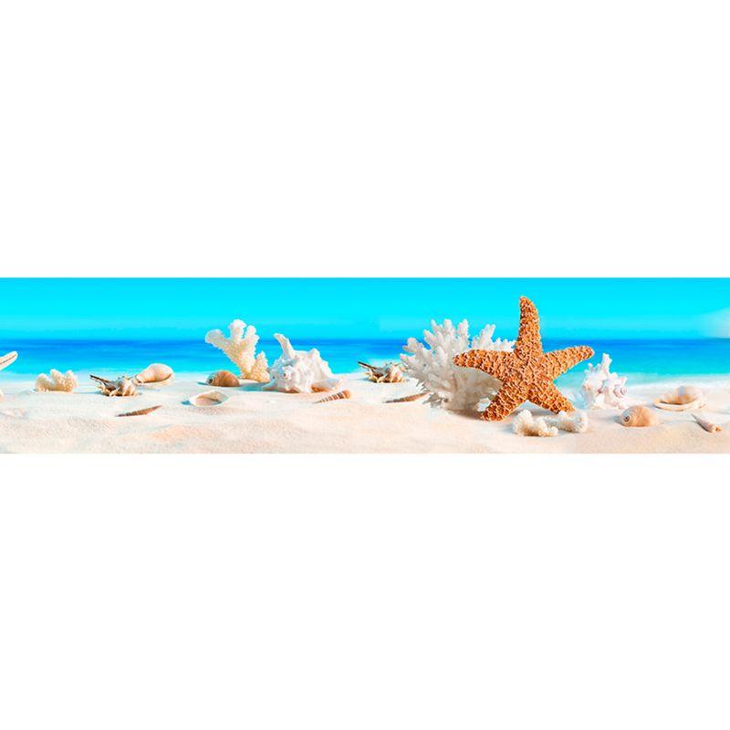 644 КП Пляж с ракушками. Фартук для кухни пластиковый. 3 метра