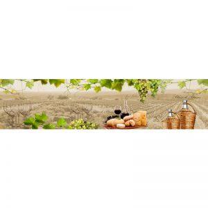 721 КП Виноград и вино. Фартук для кухни пластиковый. 3 метра
