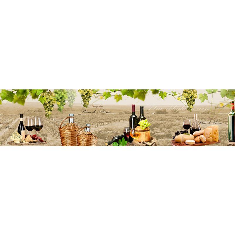 928 КП Виноград и вино. Фартук для кухни пластиковый. 3 метра