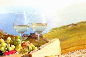 330 КП Вино и сыр. Фартук для кухни пластиковый. 3 метра