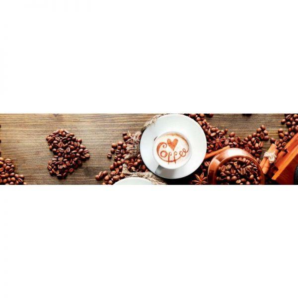 0233 SK Кофе. Фартук для кухни пластиковый. 3 метра