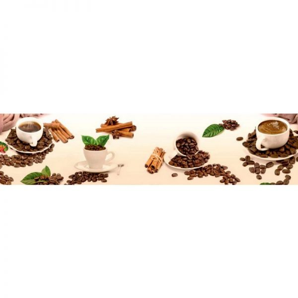 0234 SK Кофе. Фартук для кухни пластиковый. 3 метра
