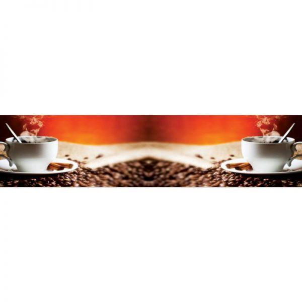 0236 SK Кофе. Фартук для кухни пластиковый. 3 метра