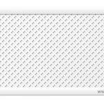 """Дамаско """"Белый"""" 600х1200 мм экран перфорированный"""