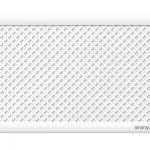 """Готико """"Белый"""" 600х1200 мм экран для радиаторов перфорированный"""
