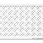 """Дамаско """"Белый"""" 600х900 мм экран перфорированный для радиаторов"""