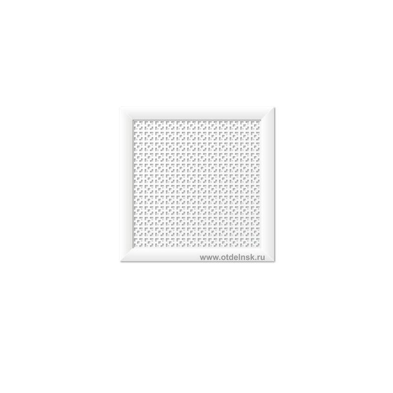 Дамаско Белый 600х600 мм. Экран для радиаторов