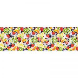 Ледяные фрукты. Фартук для кухни пластиковый. 3 метра
