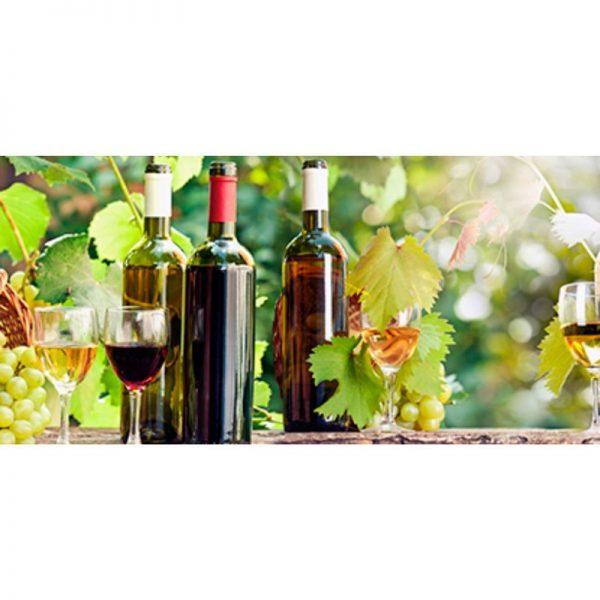 106 Виноград, вино. Фартук для кухни МДФ. 2,8 метра