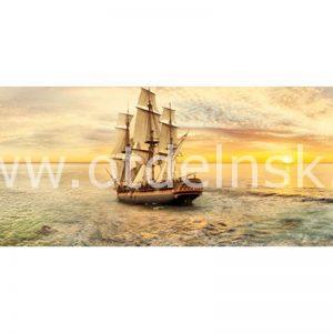 114 Корабли. Фартук для кухни МДФ. 2,8 метра