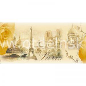123 Розы, Париж. Фартук для кухни МДФ. 2,8 метра