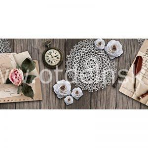 128 Розы. Фартук для кухни МДФ. 2,8 метра