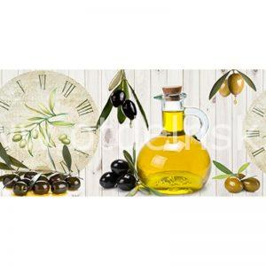 209 Масло, оливки. Фартук для кухни МДФ. 2,8 метра