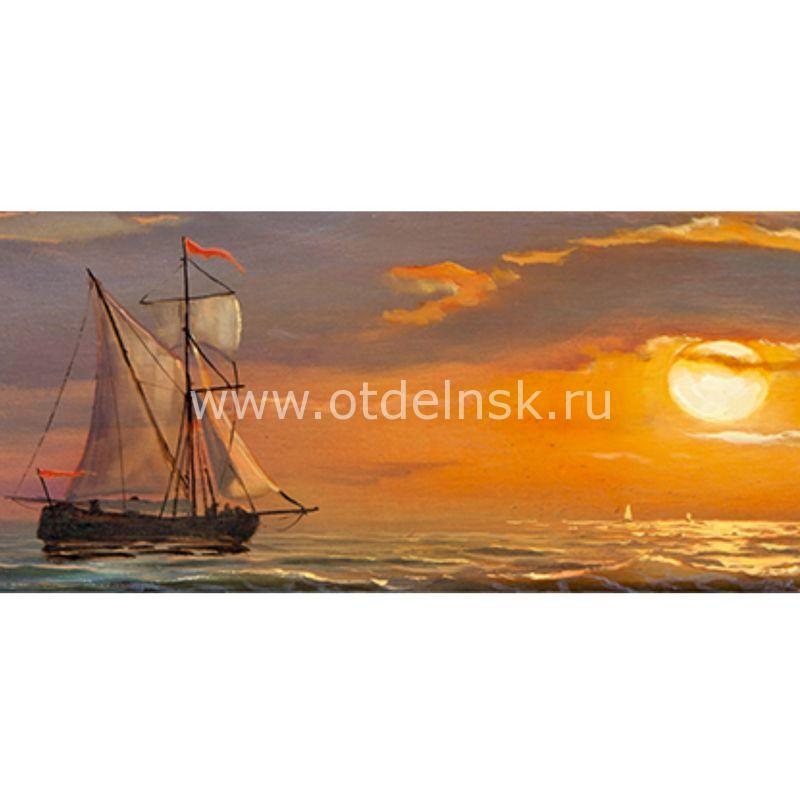 221 Корабли. Фартук для кухни МДФ. 2,8 метра