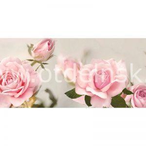 290 Розовые розы. Фартук для кухни МДФ. 2,8 метра