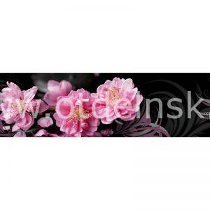 324 Цветы. Фартук для кухни МДФ. 2,8 метра