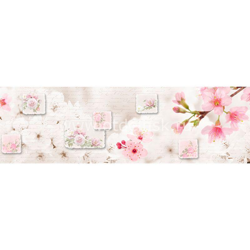 620 Цветы сакуры. Фартук для кухни МДФ. 2,8 метра