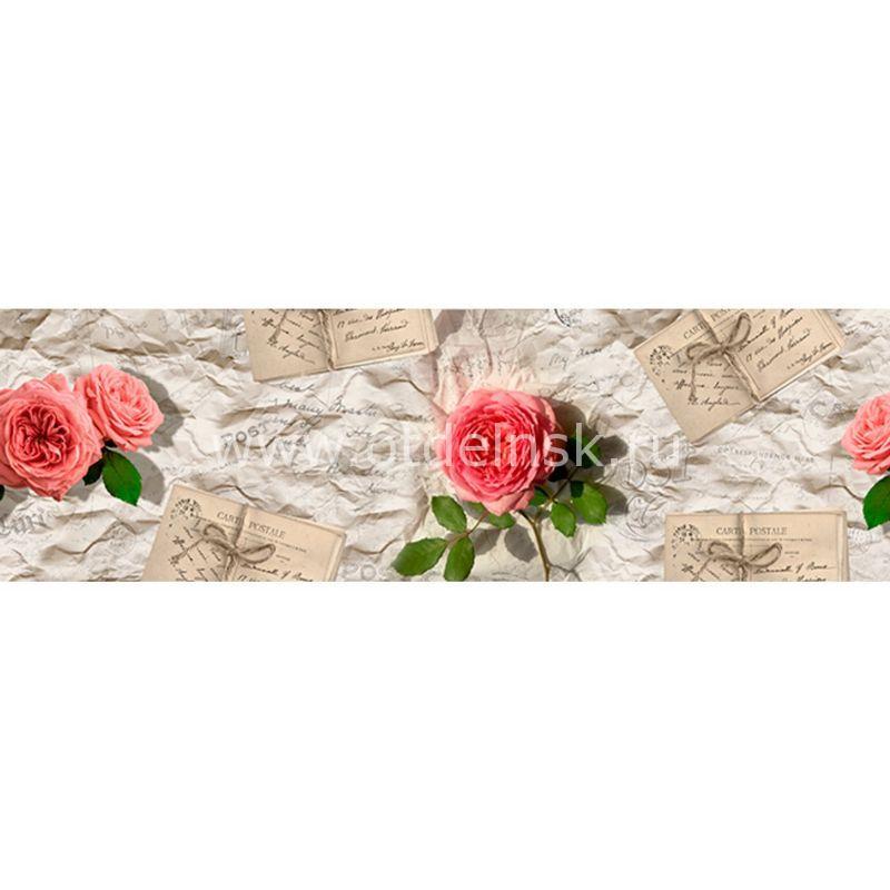 742 Розы. Фартук для кухни МДФ. 2,8 метра