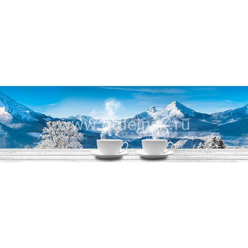 758 Чай, горы. Фартук для кухни МДФ. 2,8 метра