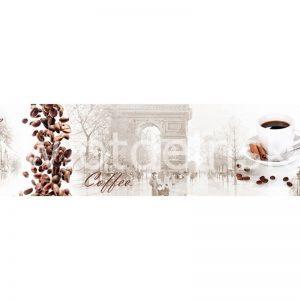 802 Кофе, арка. Фартук для кухни МДФ. 2,8 метра