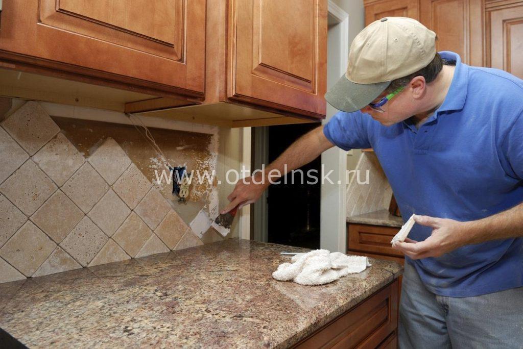 Монтаж кухонного фартука