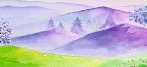 114212227 Лавандовые холмы. Фартук для кухни МДФ. 2,8 метра
