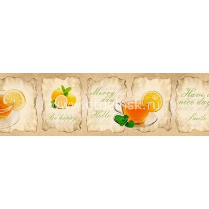 114212270 Чай, лимон. Фартук для кухни МДФ. 2,8 метра