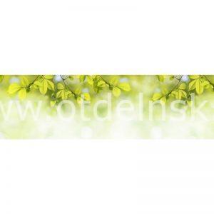 3394 Листья. Фартук для кухни МДФ. 2,8 метра