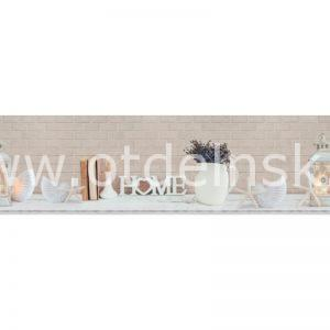 4354 Вазы, книги, цветы. Фартук для кухни МДФ. 2,8 метра
