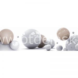 4908 Мраморные шарики. Фартук для кухни МДФ. 2,8 метра